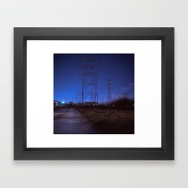Dundalk Blue Framed Art Print