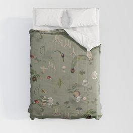Close-up on beetle, snail and bush-cricket Comforters