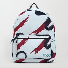 red blue abstract Backpack