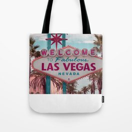 Welcome To Las Vegas Sign, Fine Art Photography Tote Bag