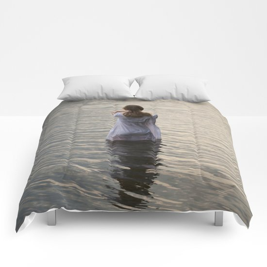 Dreaming in the water Comforters