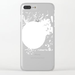 Music Is My World Clear iPhone Case