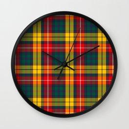 Buchanan Scottish Tartan Wall Clock