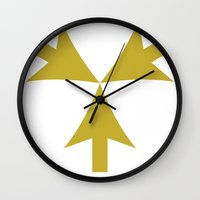 introvert Wall Clocks featuring Introvert by Brianbridwell