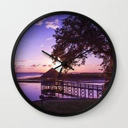 Sunset at Heritage Park Wall Clock