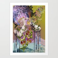 Cosmic - collage art by bedelgeuse Art Print
