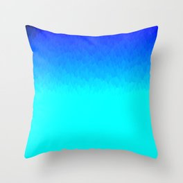 Electric Blue Ombre flames / Light Blue to Dark Blue Throw Pillow