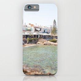 White Village In Greece Photo | Summer On Crete Island Beach Art Print | Europe Travel Photography iPhone Case