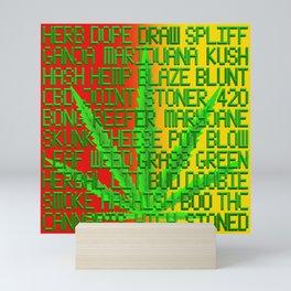 Ganja Reggae Mini Art Print