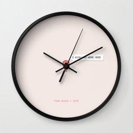 I Wish You Were Here Wall Clock