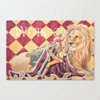 gryffindor Canvas Prints featuring Gryffindor by Ili Sn