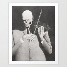 The Artist's Death Grip Art Print