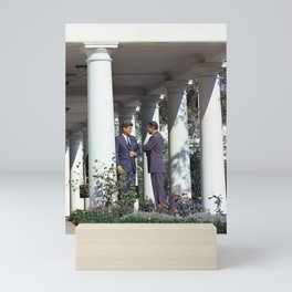 President Kennedy and Robert McNamara - White House - 1962 Mini Art Print