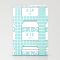 milk Stationery Cards featuring Milk by Lazy Queen