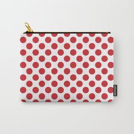 White and red polka dots Carry-All Pouch