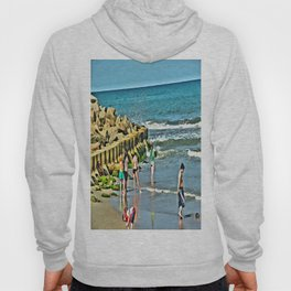Day At the Beach - Photo rendered as painting Hoody