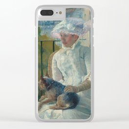 Young Girl at a Window Oil Painting by Mary Stevenson Cassatt Clear iPhone Case