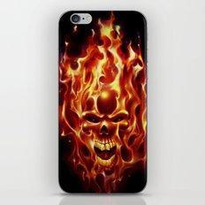 Flaming Skull iPhone & iPod Skin