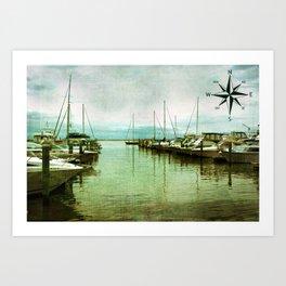 Rock Hall Marina Art Print