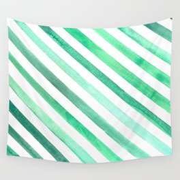 Aqua Stripes Wall Tapestry