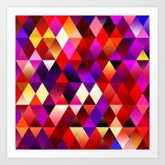 Texture triangles lilia Art Print