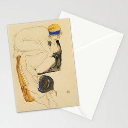 """Egon Schiele """"Zwei Liegende Figuren"""" Stationery Cards"""