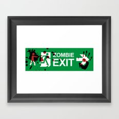 Zombie Exit - Variant Framed Art Print