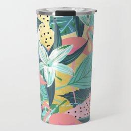 Flamingo Tropical #society6 #decor #buyart Travel Mug