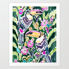TOUCAN PARADISE Art Print