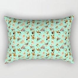 Yorkie Pattern Rectangular Pillow