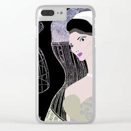 JEZEBEL-VINTAGE-3 Clear iPhone Case