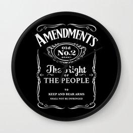 2nd Amendment Whiskey Bottle Wall Clock