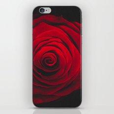 Red rose on black background vintage effect iPhone & iPod Skin