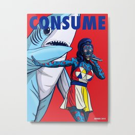CONSUME - The Queen of Bubblegum Pop Music Metal Print