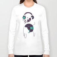 budi Long Sleeve T-shirts featuring Record Bear by Picomodi