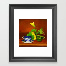 Teacup with Squash Framed Art Print
