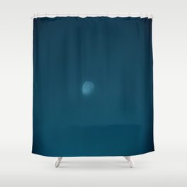 Moon on the Blue Ridge Shower Curtain