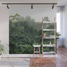 Tropical Foggy Forest Wall Mural