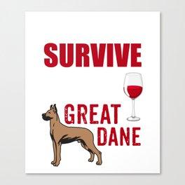 Costume For Great Dane Dog Lover. Shirt For Mom/Grandma. Canvas Print