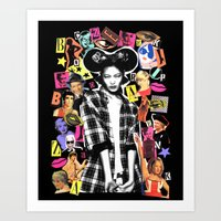 mickey Art Prints featuring MICKEY by Neon Wonderland