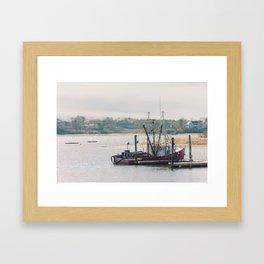 Cape Cod Fishing Boat Framed Art Print