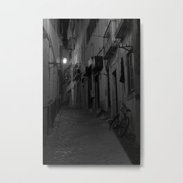 A Street in Lisbon Metal Print