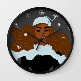 Magical Winter Night Wall Clock