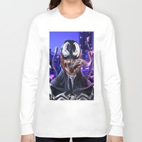 venom Long Sleeve T-shirts featuring VENOM by corverez