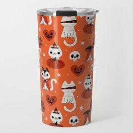 Halloween Kitties (Orange) Travel Mug