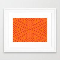 orange pattern Framed Art Prints featuring orange Pattern by LoRo  Art & Pictures