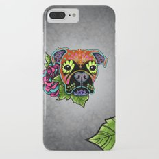 Boxer in Fawn - Day of the Dead Sugar Skull Dog Slim Case iPhone 7 Plus