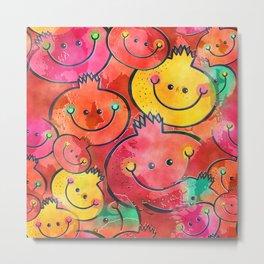 Pomegranate Watercolor Metal Print