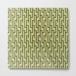 Latticework Pattern Metal Print