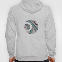 Shiny Rose Gold And Teal Marble Gemstone Hoody